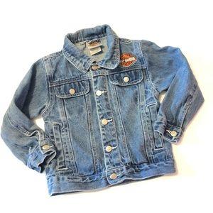 Kids Harley Davidson Denim Jean Jacket 4/5